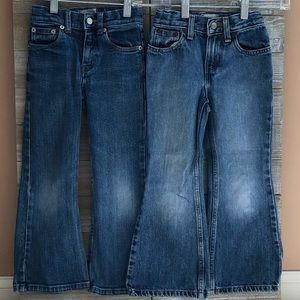 Girls Size 5 Slim Gap Flare Jean Bundle